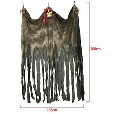 Halloween 2 Metre Hanging Skull Pirate Trick Treat Party Decoration Scary Prop