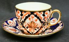 Antique Victorian Thomas Bevington Staffs. Porcelain Imari  Cup & Saucer 1877-91