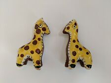 "Giraffe Antique Salt and Pepper Shakers Japan Cork Bottom 4"" Vintage Collective"