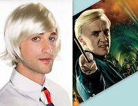 Halloween Potter INSPIRED Malfoy Short Blonde Wig Cosplay Costume  WT0012