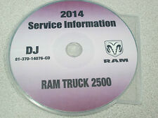 2014 DODGE RAM TRUCK 2500 Service INFORMATION Shop Manual CD DVD OEM BRAND NEW