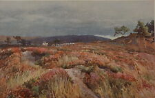 Landscape by A. Henry Fullwood. Color Plate. The Studio, 1906.