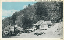 Floyd Co. KY * Native Home in Gas Floyd Co. KY  1937 *    Well
