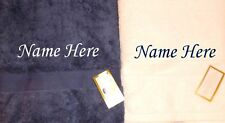 Personalised Honeymoon Wedding Anniversary Beach Towel Gift Set- Navy and White