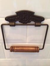 Iron Victoria Vintage Toilet Roll Loo Paper Holder Retro Bathroom Railway WC New