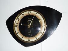 Belle Horloge OEIL  TROPHY  Formica Noir  Vintage   Des Années 50's