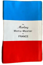 The Marling Menu-Master for France by Clare F. Marling and William E. Marling