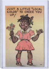 New Listing1952 Curt Teich Black Americana Postcard Just A Little Local Color