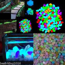 Lots 200X Multicolor Stones Pebbles Glow In The Dark Fish Tank Aquarium Ornament