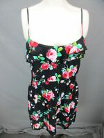 MIMI CHICA SIZE S WOMENS BLACK FLORAL SLEEVELESS 100%VISCOSE SUMMER SUNDRESS 675