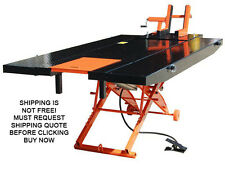 NEW Titan 1000D 1000 lb Motorcycle Lift Table With Side Extensions Orange