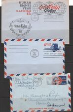 AIR LETTER SHEETS  ---   (3) DIFFERENT --- 1960s  ---  USED