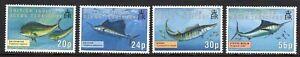British Indian Ocean Terr. 1995 Gamefish set fine fresh MNH
