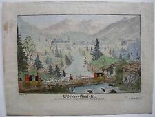 Wildbad Gastein Salzburg Österreich kolor Orig Kupferstich Joh Ziegler 1790