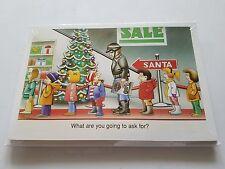 HARLEY DAVIDSON CHRISTMAS CARDS #X509 BIKER ASKING SANTA FOR A HARLEY (100 PK)