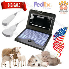 US Seller Veterinary Ultrasound Scanner Laptop Machine 2 Probes Small Animals,CE