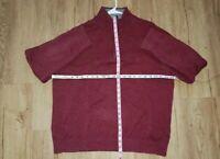 Nautica Mens XL 1/4 Zip Pullover cherry wine color EUC