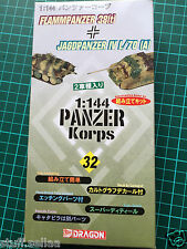 GERMAN FLAMPANZER +JAGDPANZER IV#32 - Dragon 1/144 scale model kit army tank war