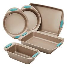 Rachael Ray 46179 Cucina Nonstick Bakeware Set with Grips includes Nonstick Pan,