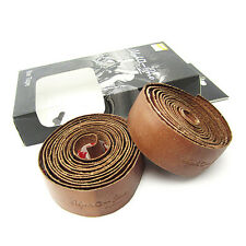 Alpha-One BLT-001 Leather Road Bike Bicycle Cycling Handlebar Tape - Brown