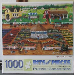 SPRING IN THE VALLEY BY CINDY MANGUTZ - Complete - BITS &  PIECES PUZZLE