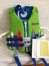 NEW SPEEDO CHILD 30-50 LBS PERSONAL FLOTATION DEVICE VEST JACKET USCG LIFE