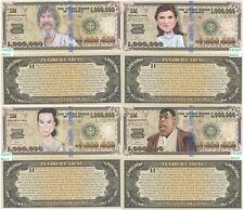 Star Wars Caricature Set of 4 Fake Play Million Dollar Bill Novelty FREE SLEEVES