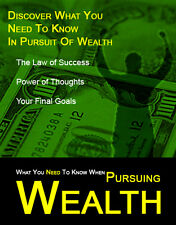 Secrets Of Pursuing Wealth Ebook CD w/ Resell Rights - Free Shipping Available