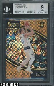 2018-19 Select Copper Prizm Courtside #229 Luka Doncic RC Rookie 1/60 BGS 9