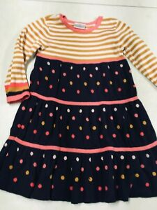 HANNA ANDERSSON  DOTS & STRIPES LONG SLEEVE SWEATER DRESS GIRLS  100   4T   4