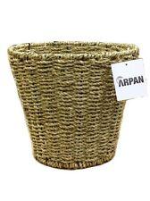 Natural Seagrass Round Wicker Basket Storage Wast Paper Bathroom Bin (11-409)