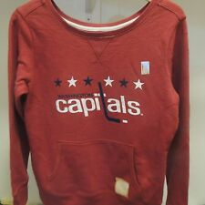 NHL Retro Washington Capitals Crewneck Sweatshirt New Womens LARGE