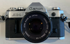 Canon AE-1 Camera Canon Lens FD 50mm 1:1.8 Untested Vintage