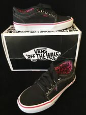 Vans Women Size 5 Shoes Black Pink Leopard Chukka Low New $60 New