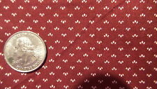 "Vintage Cotton Fabric CREAM TRIO DOTS ON DARK MAROON V.I.P. 1 Yd/44"" Wide"
