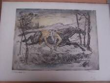 Coloured Etching - Pier Antonio Gariazzo -Paper size 13.75 x 19.5 inches approx