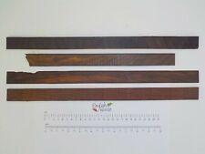4 Rosewood wood offcuts.  Inlay, binding, veneer, marquetry, craft.  3611