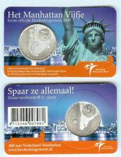 "NEDERLAND 5 EURO  2009: ""HET MANHATTAN VIJFJE"" IN COINCARD"