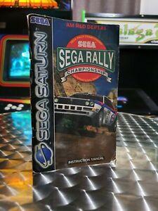 Sega Rally Championship - Sega Saturn Game Manual