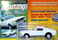 JOHNNY LIGHTNING MUSTANG ILLUSTRATED 1967 FORD MUSTANG GTA FASTBACK WHITE 1/64