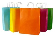More details for 50 coloured twisted handle kraft paper carrier bags
