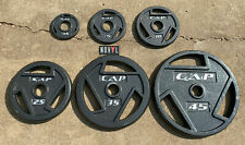 "CAP Cast Iron 2"" Olympic Weight Plates 2.5 - 45 lbs Lot Choose Singles or Pairs"