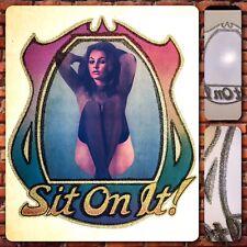 70s VTG Fonz Sit On It Pinup Calendar Girl Playboy Happy Days t-shirt Iron-On