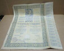 Société du Crédit Foncier à Varsovie (Pologne) obligation 1929