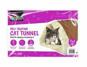 Self Heating Cat Tunnel & Mat Cushion Puppy 2 in 1
