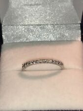 9ct Beautiful White Gold Cubic Zirconia Slim Eternity Ring Size L