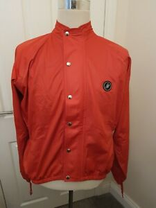 CASTELLI Mens XL Gore-Tex Windstopper CYCLING TOP JACKET  Red Zip and Button