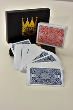 "King ""Medieval"" 100% Plastic Playing Cards Twin Pack - Poker Size - Jumbo Index"