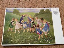 Dresdner Künstlerkarten F. Schenkel Nr. 723.wir woll'n die goldene Brücke bau'n