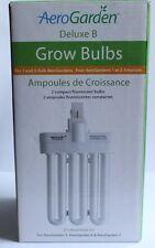 NEW AeroGarden Deluxe B Grow Bulbs Pack of 2 Model 100340 Retail Box 8881